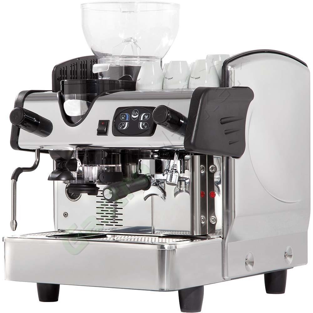•• Félautomata egykaros kávégép, kávédarálóval